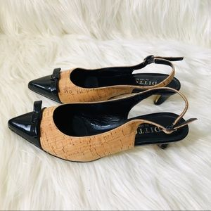 Ditto by Van Eli ankle strap Pointy toe brown heel